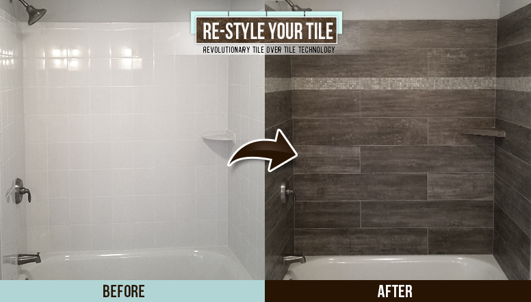 You Wont Believe How This Boring Tile Shower Got A Total Dust And - Bathroom remodel process